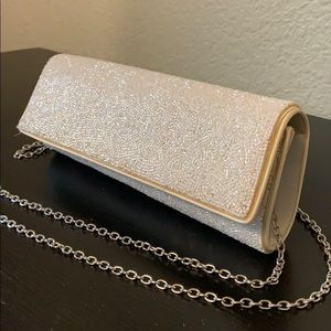 Beaded Clutch w/ Removable Chain Strap